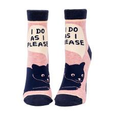 Blue Q I Do As I Please Women's Ankle Socks – Front