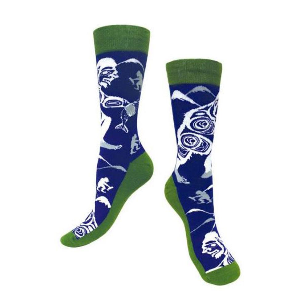 Blue and Green Spirit Sasquatch Socks S/M