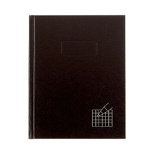 "Blueline Black 4x4 Quad Hardbound 9.25""x7.25"" Notebook"