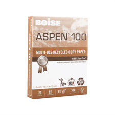 "Boise Aspen 100% Recycled 8.5""x11"" 20lb Copy Paper 500 Pack"