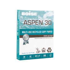 "Boise Aspen 30% Recycled 8.5""x11"" 20lb Copy Paper 500 Pack"