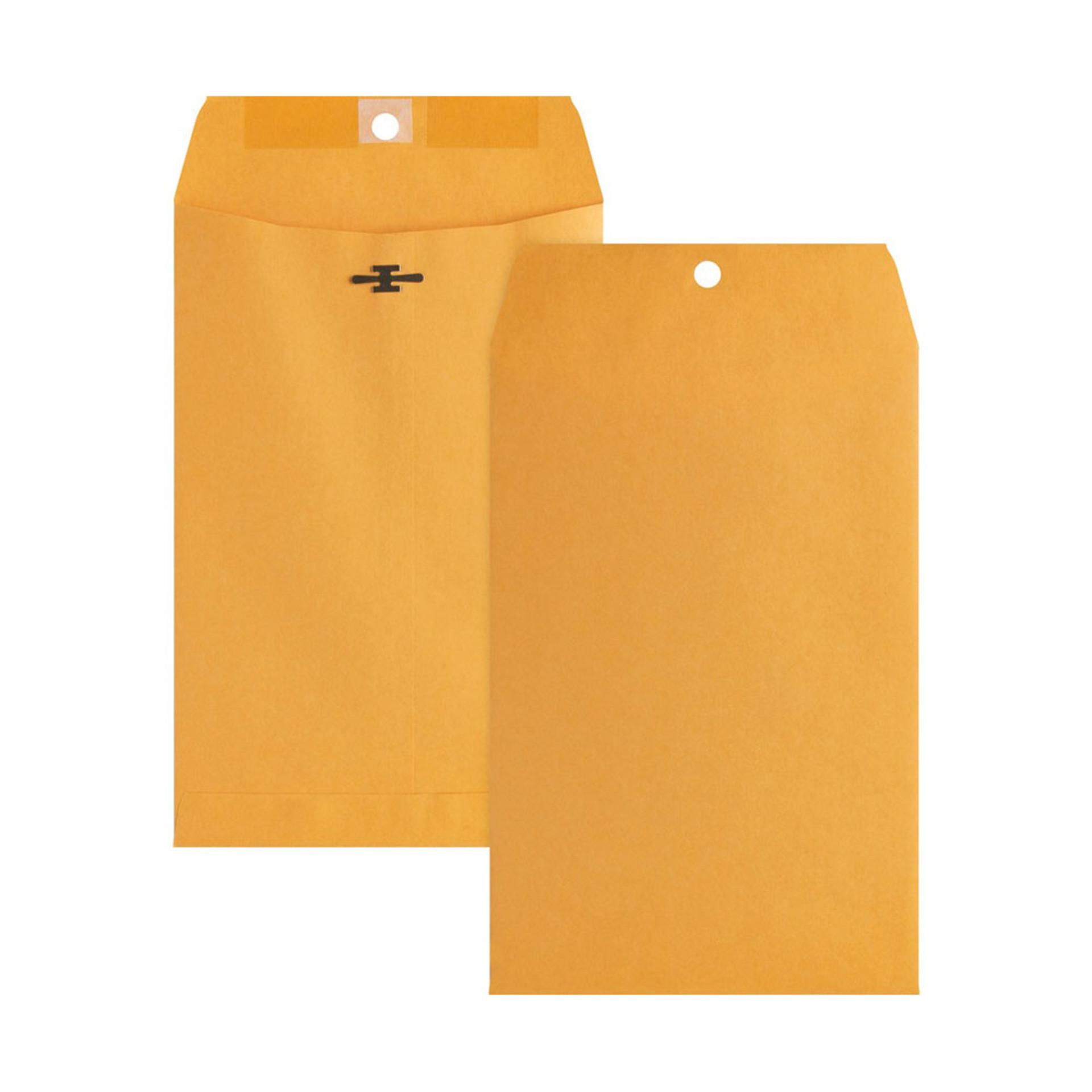 "Business Source Kraft 6""x9"" Heavy Duty Clasp Envelopes 100ct"