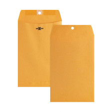 "Business Source Kraft 6""x9"" Heavy Duty Clasp Envelopes 100ct"
