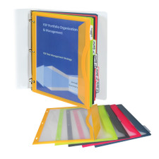 C-Line Write On Tab Side Loading Poly Binder Pockets 5 Count