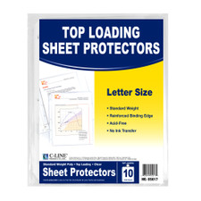 C-Line Clear Standard Top Loading Sheet Protectors 10 Count