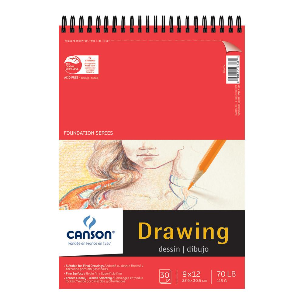 """Canson Foundation Series Drawing Pad 9""""x12"""""""