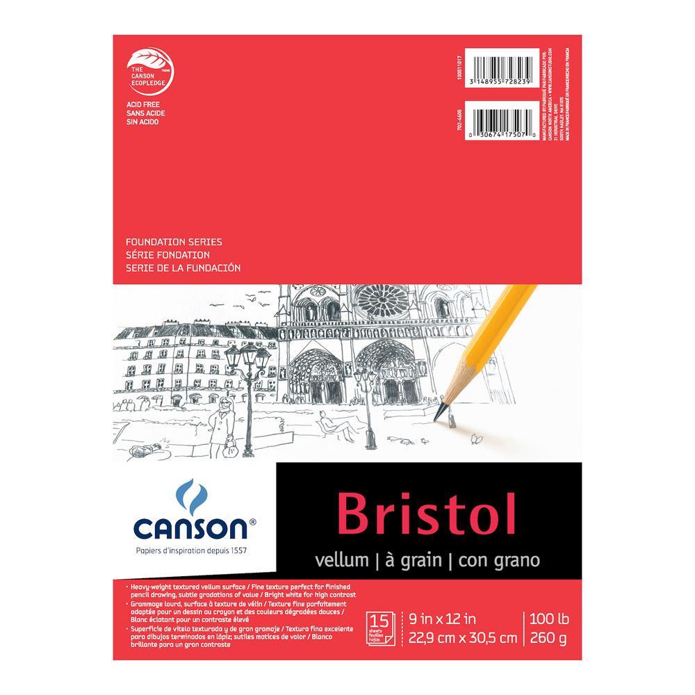 "Canson Foundation Series Vellum Bristol Pad 9""x12"""