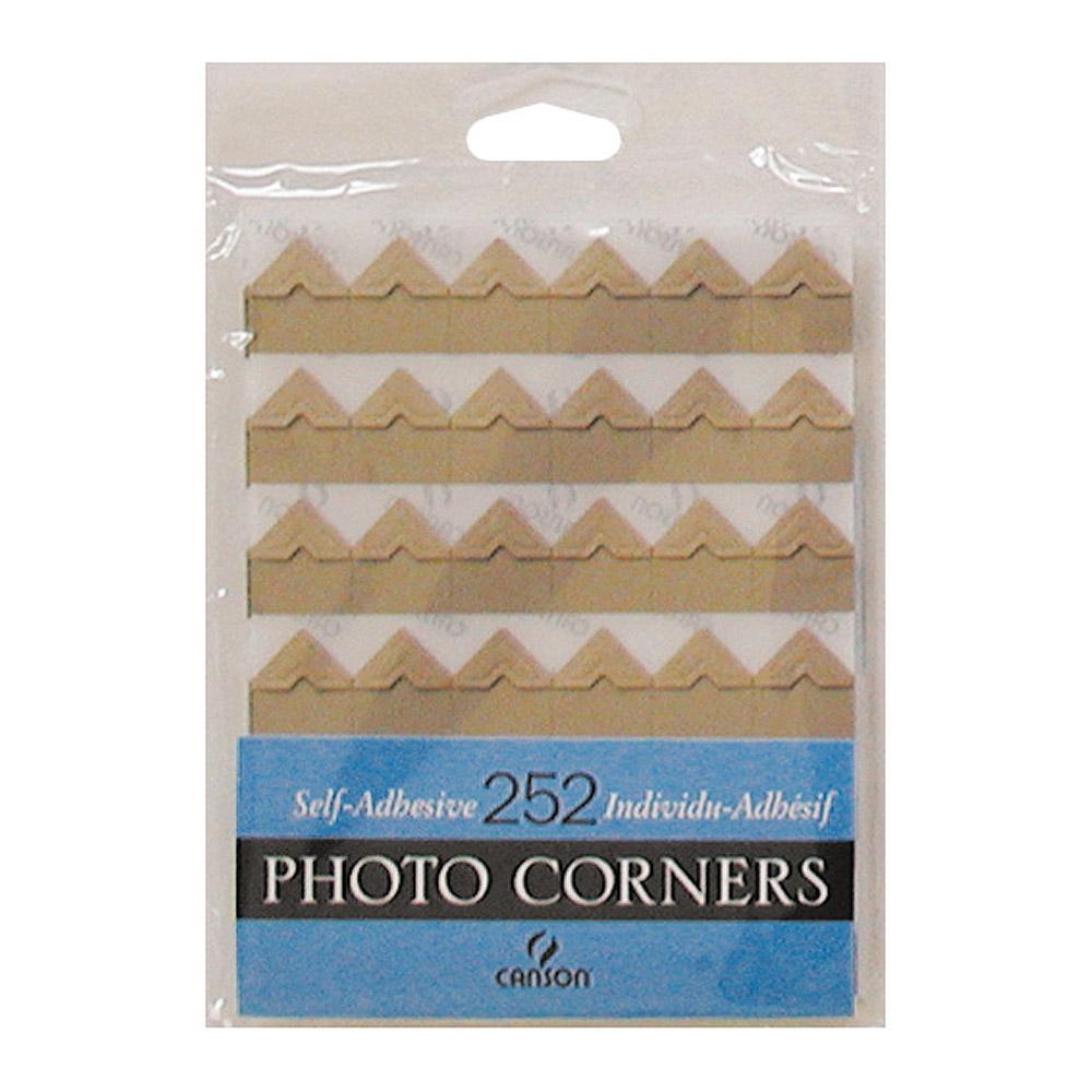 Canson Kraft Self Adhesive Photo Corners 252 Count