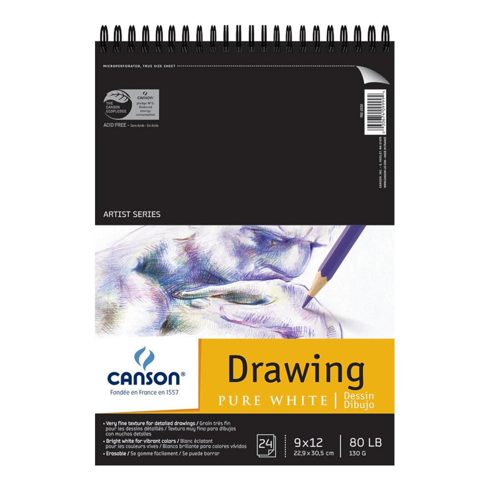 """Canson Pure White Drawing Pad 9""""x12"""""""