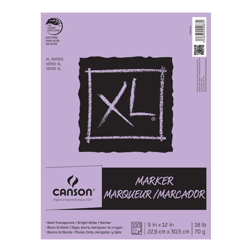 "Canson XL Marker Pad 100 Sheet 9""x12"""