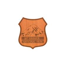 Cascade Provisions Rainier National Park Sign Wood Sticker