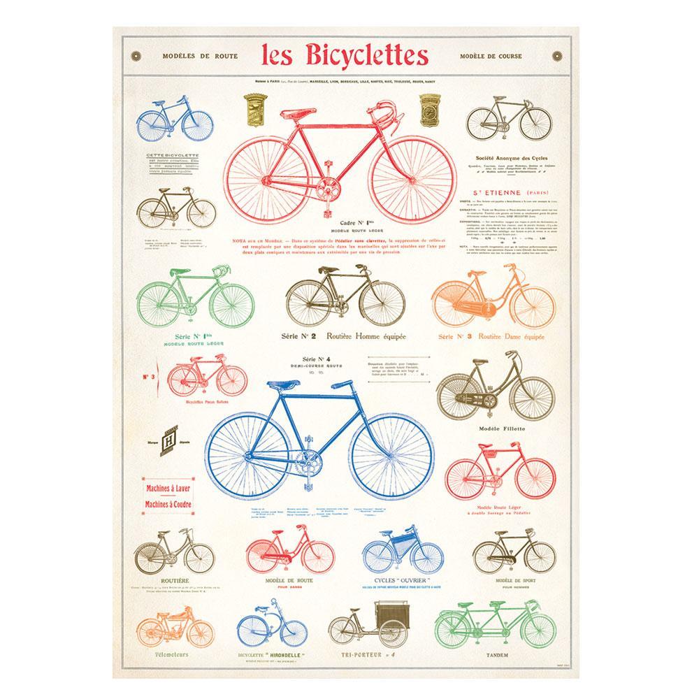"Cavallini 20"" x 28"" Bicycles Decorative Paper"