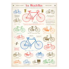 "Cavallini 20"" x 28"" Bicycles Decorative Paper"