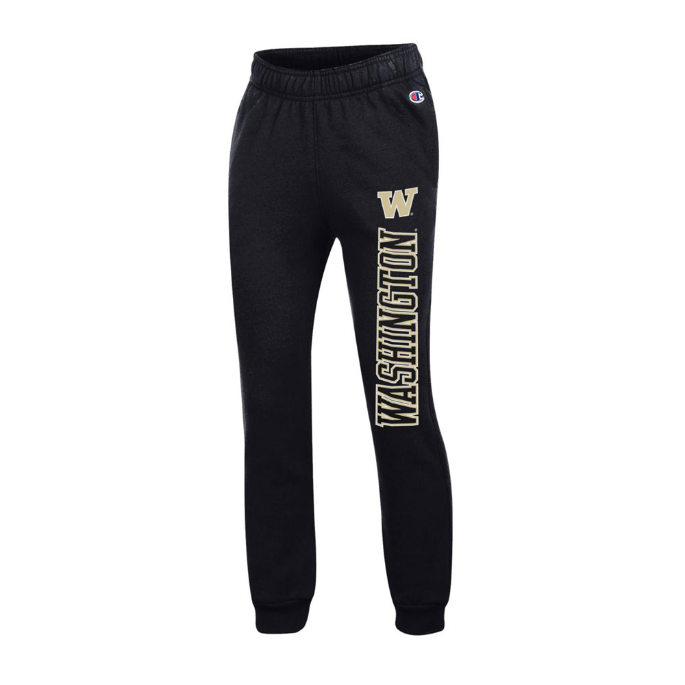Champion Kids W Washington Powerblend Sweatpant – Black