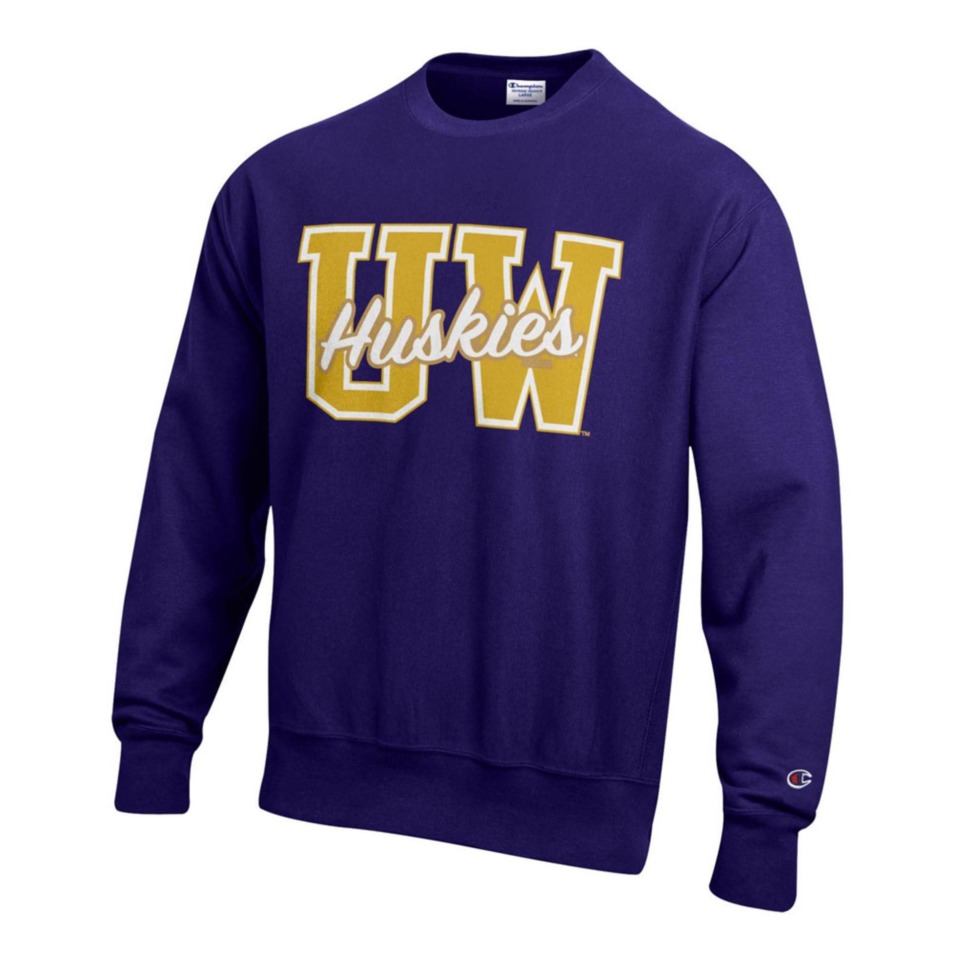 Champion Unisex UW Huskies Reverse Weave Crewneck – Purple