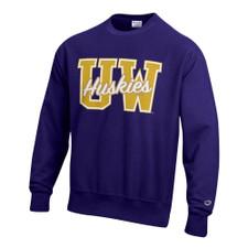 Champion Unisex UW Huskies Reverse Weave Crewneck – Purple