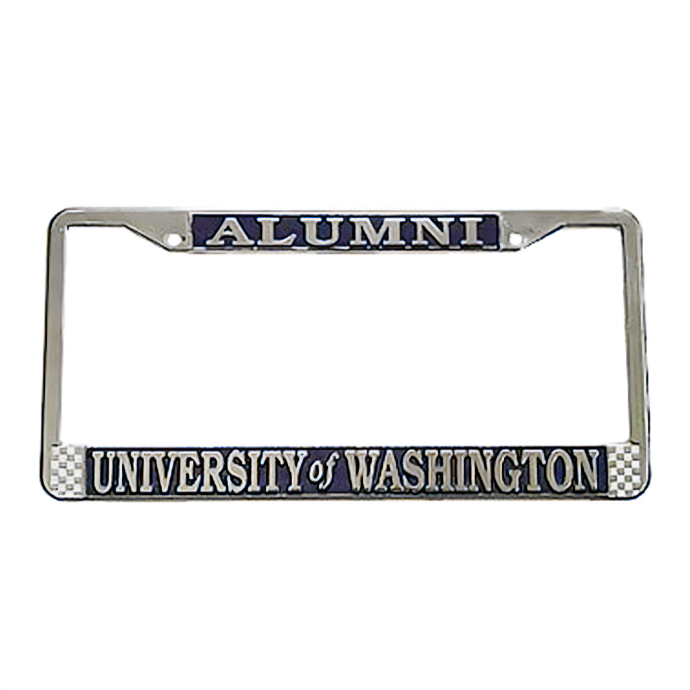Chrome Alumni University of Washington License Plate Frame