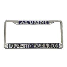 University of Washington Alumni License Plate Frame Chrome