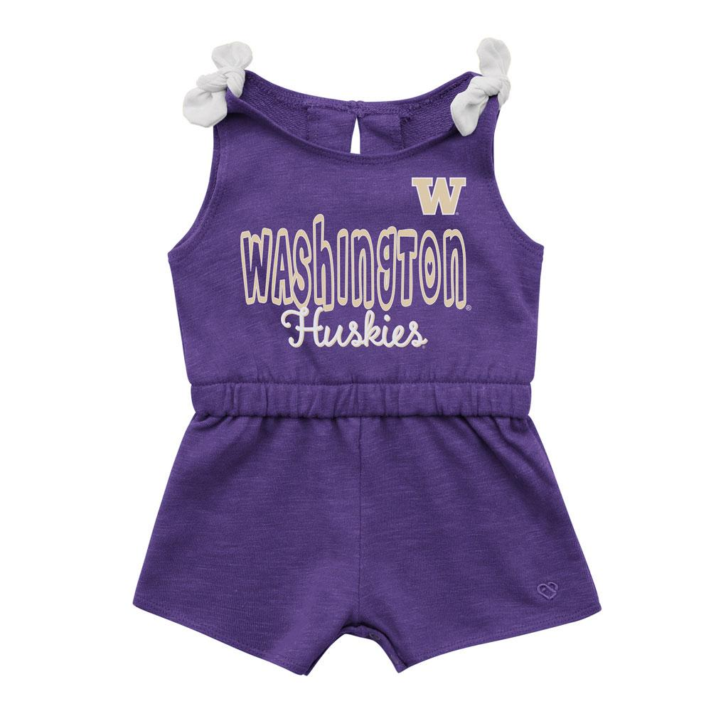 Colosseum Baby Girls' Washington Huskies Haparoo Romper