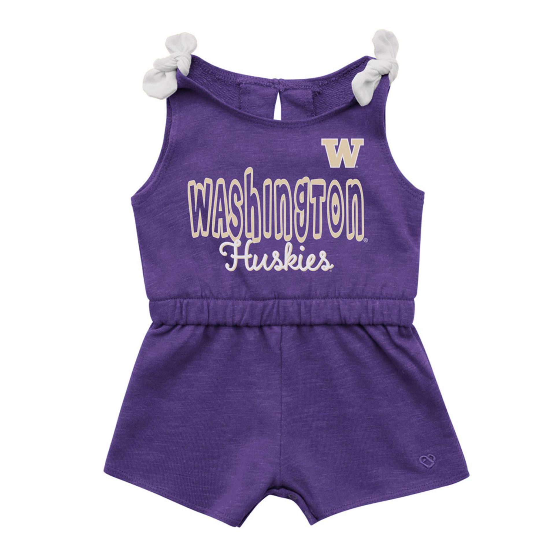 Colosseum Baby Girls' Washington Huskies Haparoo Romper
