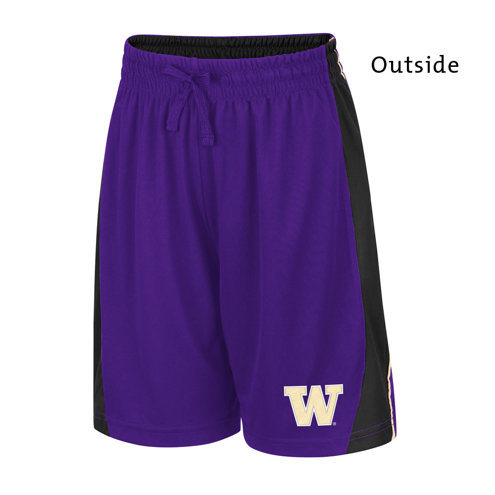 Colosseum Boys' W Side Panel Reversible Shorts – Purple – Outside