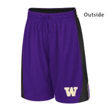 Colosseum Boys' W Side Panel Reversible Shorts – Purple – Outside