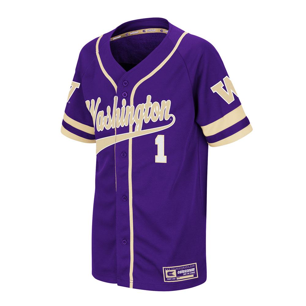 Colosseum Kids' Washington W 1 Baseball Jersey – Front