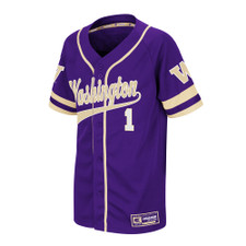 Colosseum Kids' Washington W 1 Baseball Jersey – Front