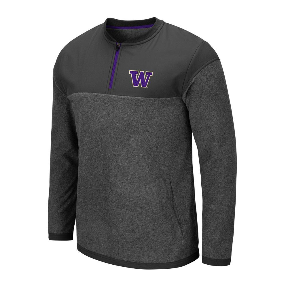 Colosseum Men's W Gumble Fleece Quarter-zip – Charcoal