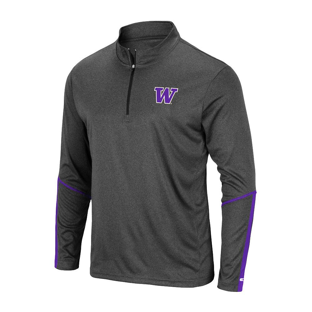 Colosseum Men's W Huskies Excavator Quarter-zip – Front