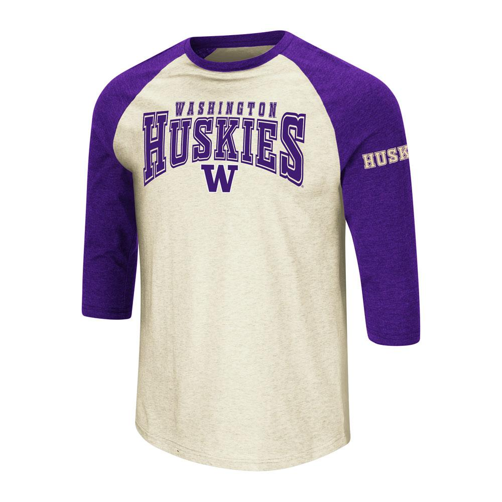 Colosseum Men's Washington Huskies Baseball Tee
