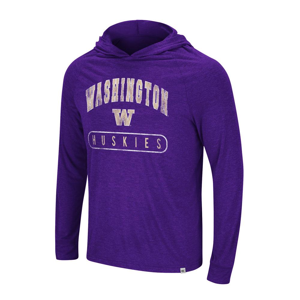 Colosseum Men's Washington Long Sleeved Hoodie Tee