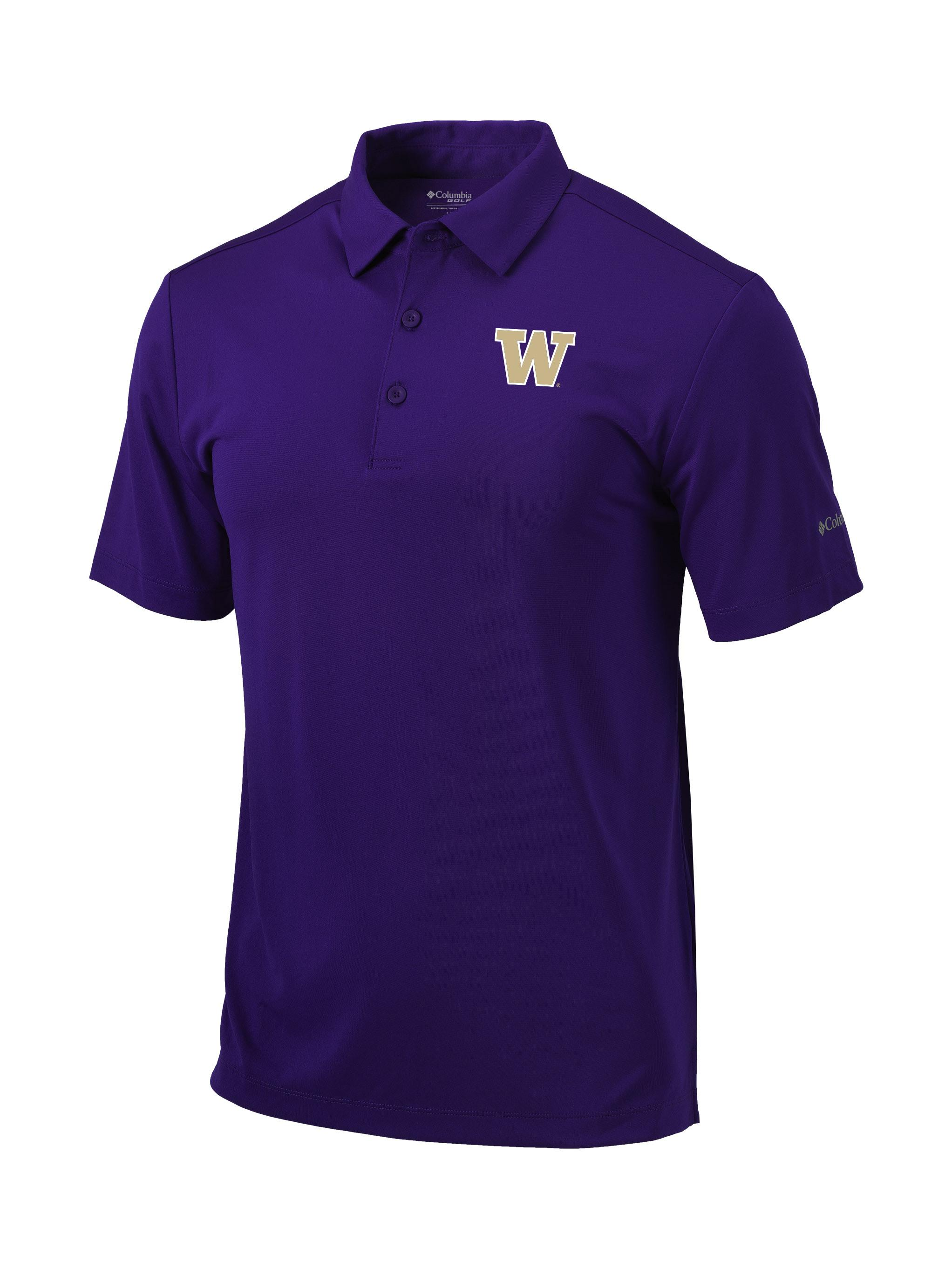 Columbia Golf Men's W Omni-Wick Drive Polo – Purple