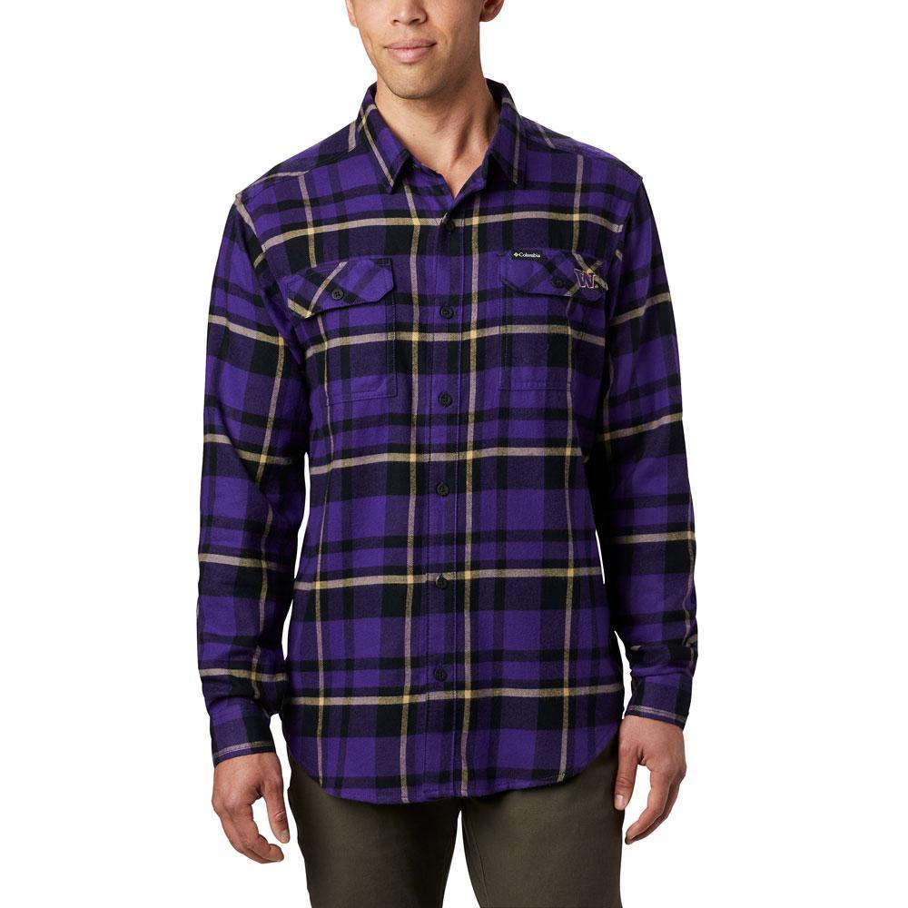 Columbia Men's W 2019 Flare Gun Flannel Shirt – Purple