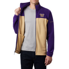 Columbia Men's W Flanker Full-zip Fleece Jacket – Purple Gold
