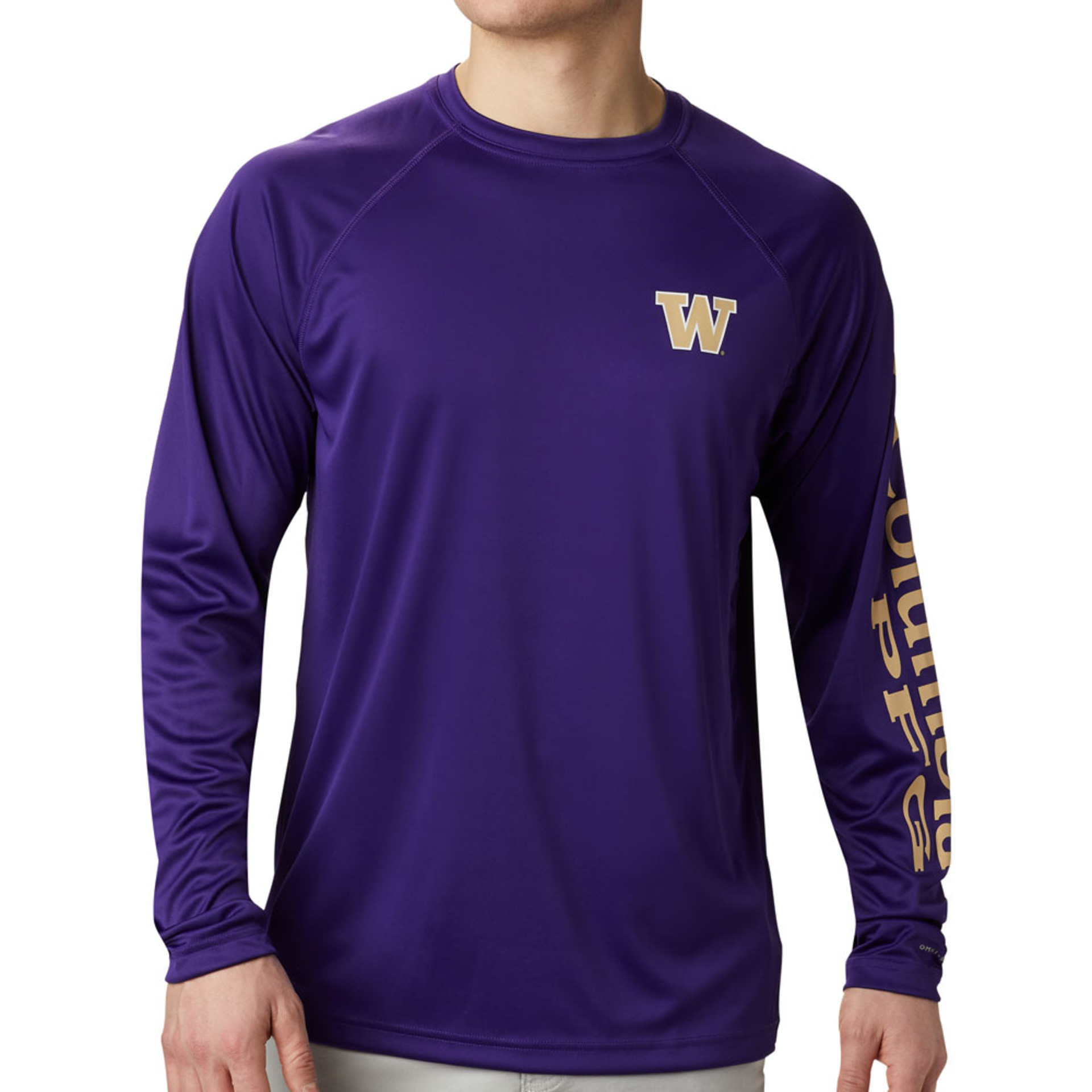 Columbia Men's W Terminal Tackle Long Sleeved Tee – Purple