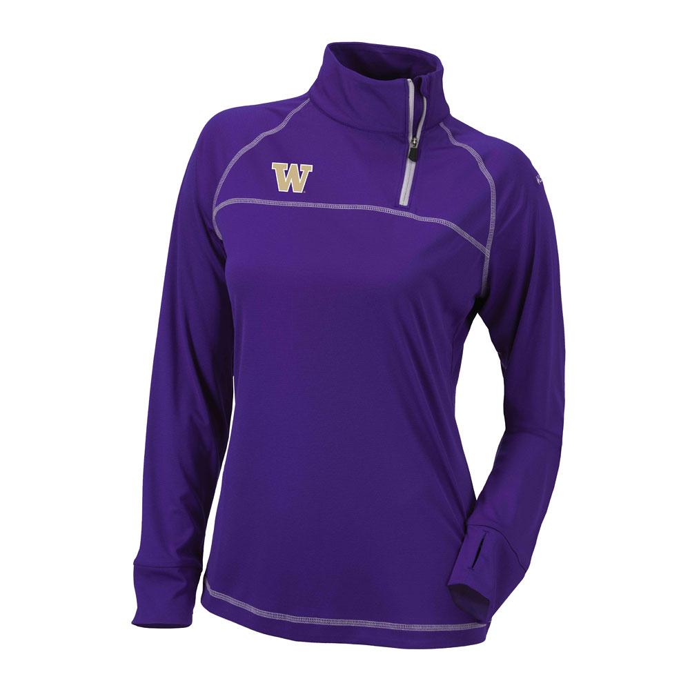 Columbia Women's W Omni-Wick Classic Pullover – Purple
