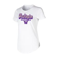 Concepts Sport Women's Washington Huskies Cloud Tee