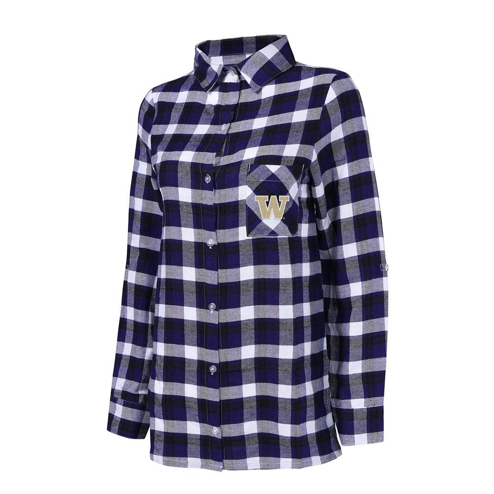 Concepts Sports Women's W Peidmont Flannel Long Sleeve