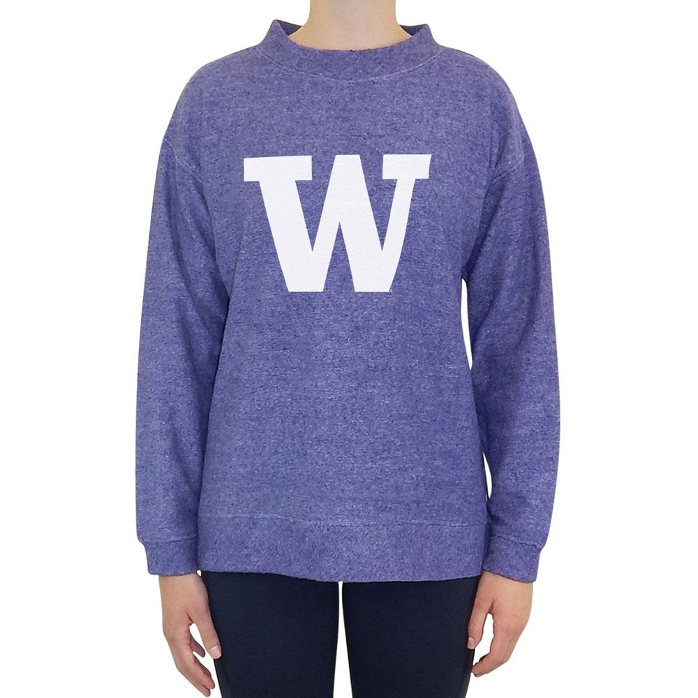 Concepts Sports Women's W Runway Terry Crewneck – Purple