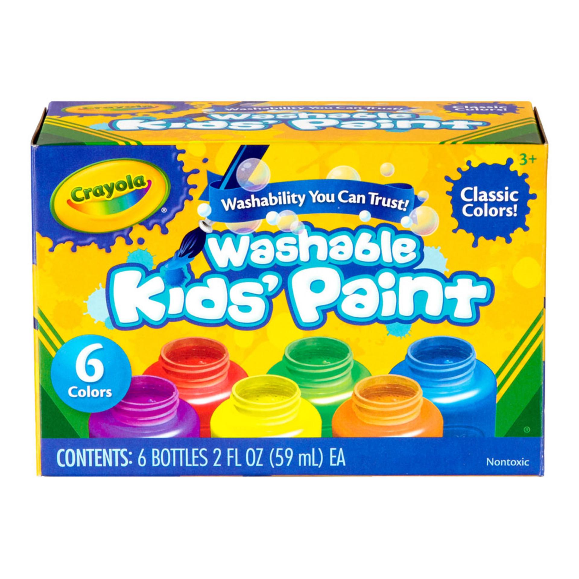 Crayola Washable Kids Paint 6 Color 2oz