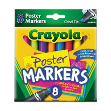 Crayola Chisel Tip Poster Markers