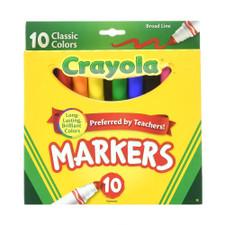 Crayola Classic Marker Set 10 piece