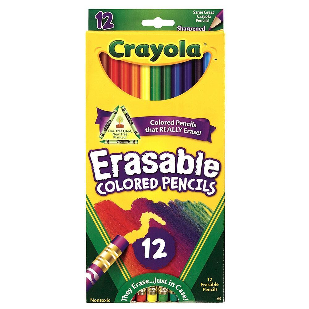 Crayola Erasable Colored Pencil Set 12 Count