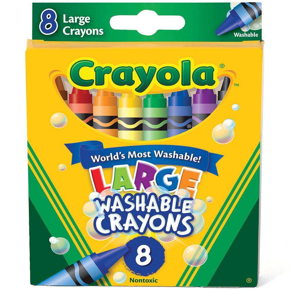 Crayola Washable Crayons 8 Pieces