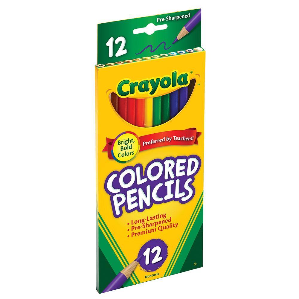 Crayola Long Colored Pencil Set 12 Count