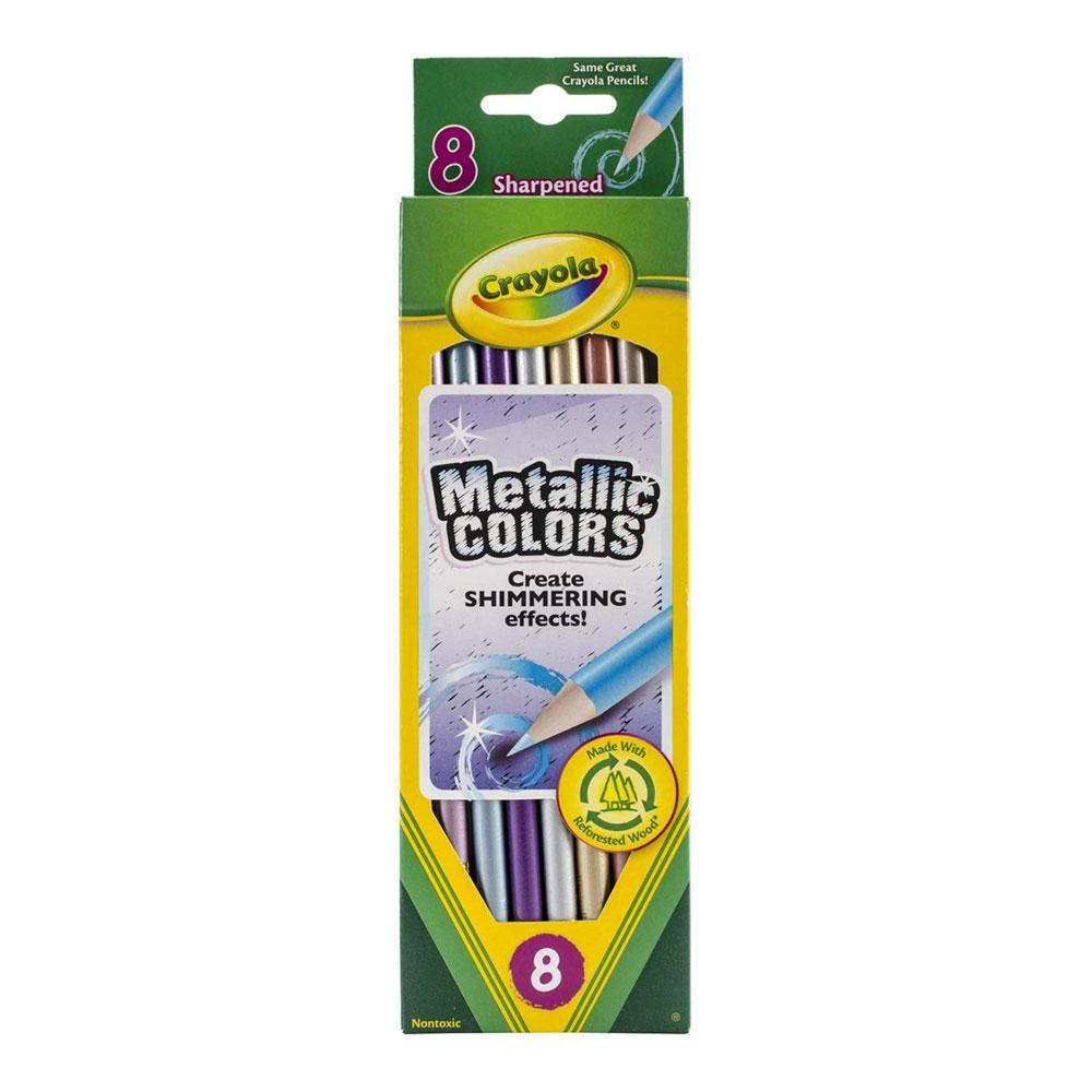 Crayola Metallic Colored Pencil Set 8 Count