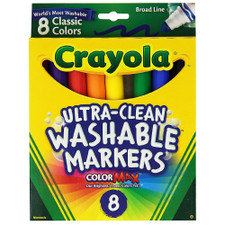 Crayola Ultra-Clean Washable Broad Point Marker Set 8 piece