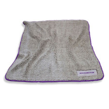 Logo Brands Cream And Purple Washington Frosty Fleece Blanket