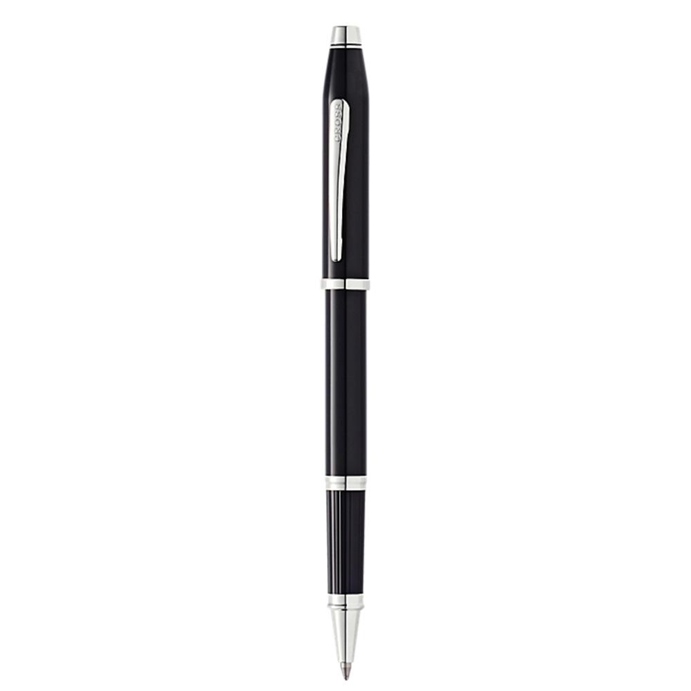 Cross Century II Black Lacquer Chrome Trim Rollerball Pen